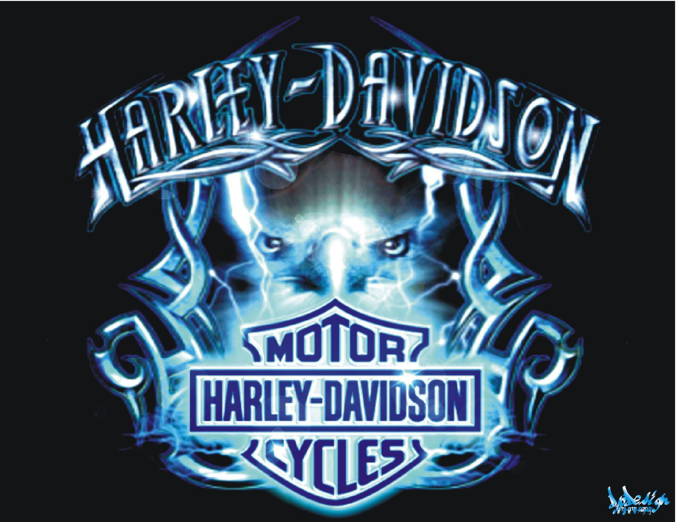 Wallpapers For > Harley Davidson Logo With Flames Wallpapers