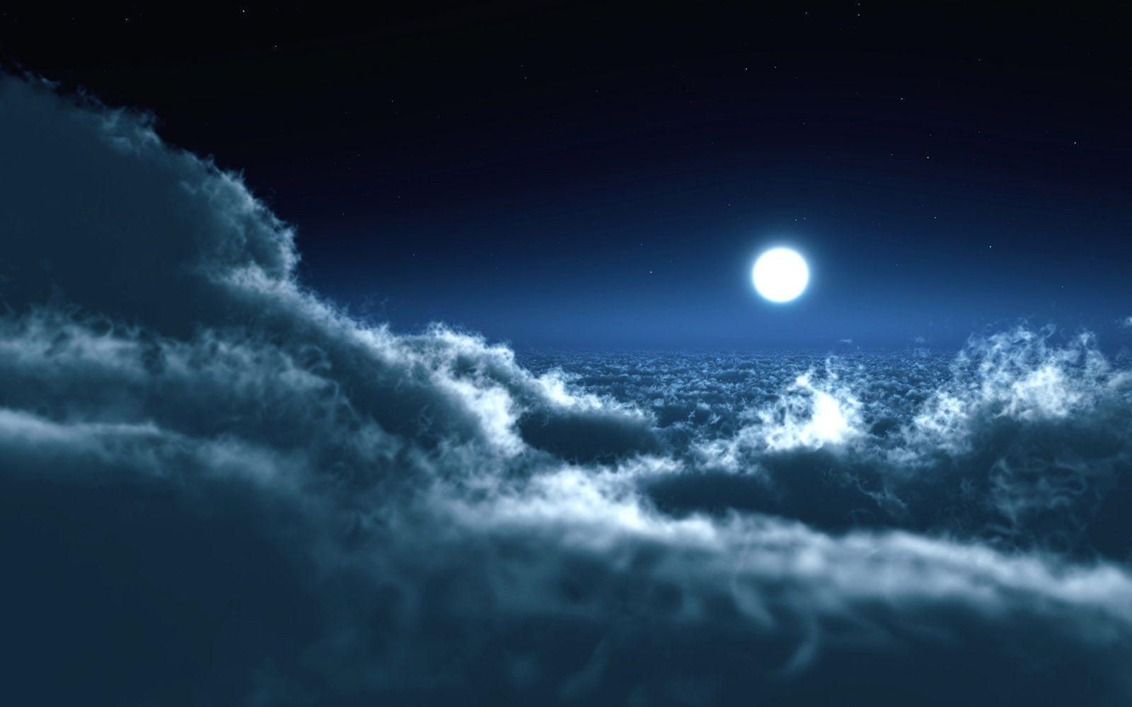Full Moon at Night wallpaper - Nature Wallpapers