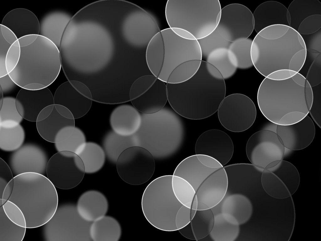Black and Gray Bubbles Download PowerPoint Backgrounds