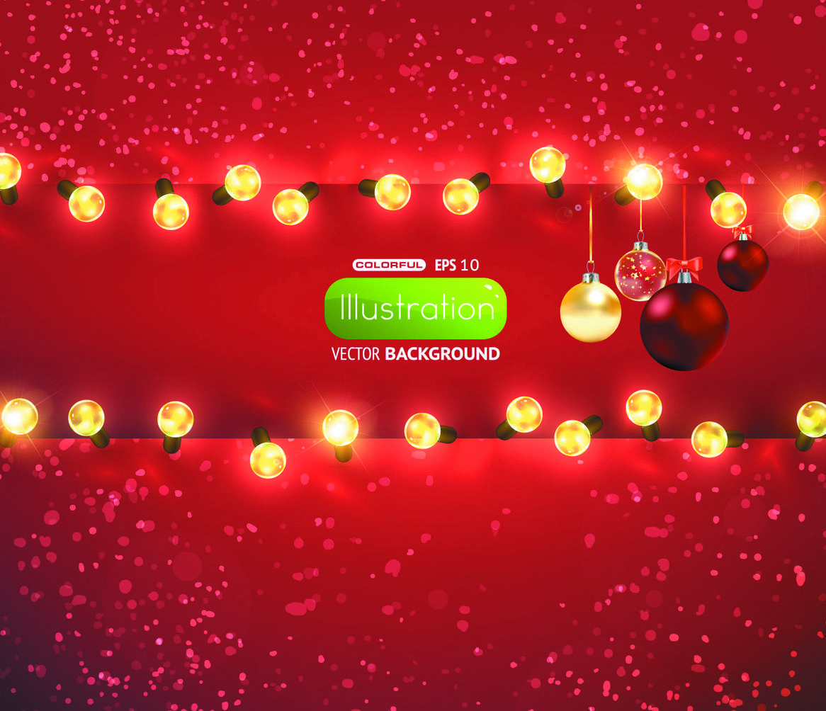red christmas lights background - photo #38