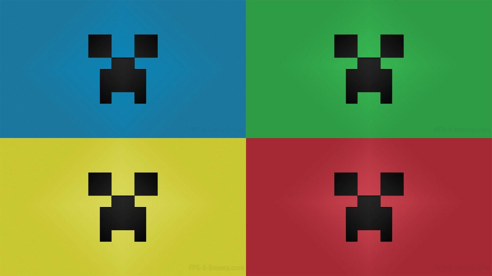 Creeper Minecraft Face - Wallpapers PC Free Download