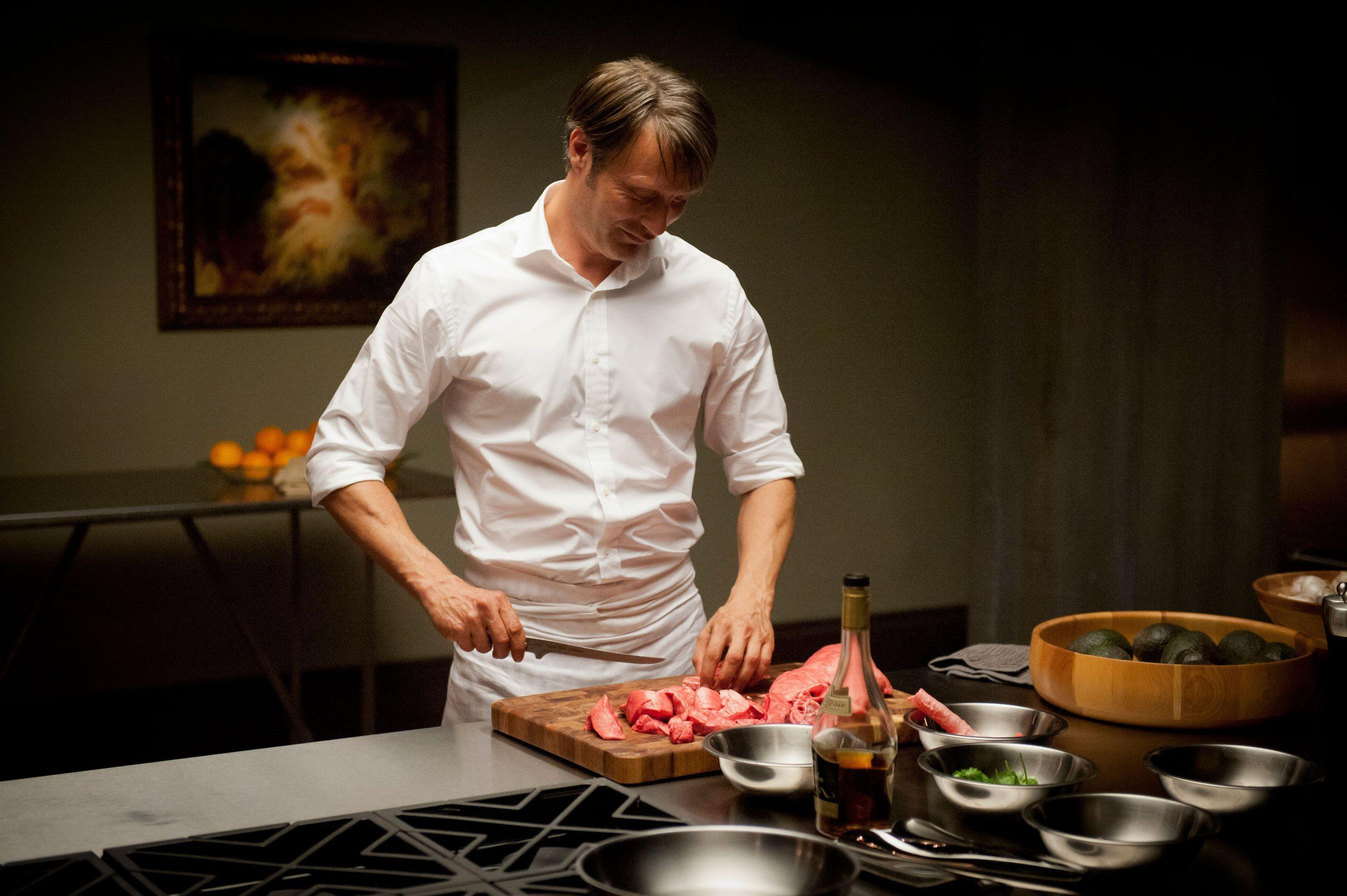 Hannibal is cooking