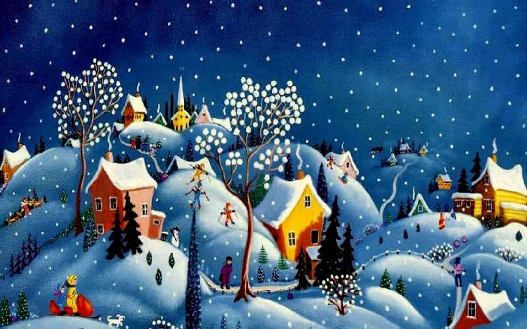 Christmas Village Backgrounds Wallpaper Cave