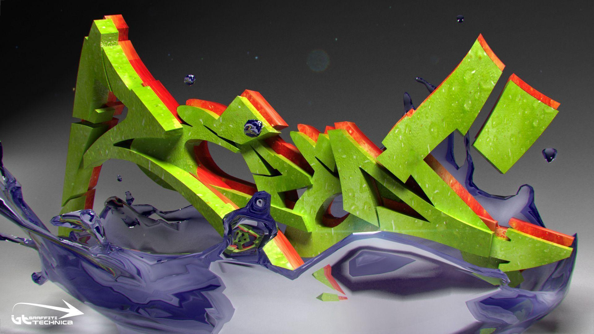 3d graffiti wallpapers wallpaper cave for Graffiti wallpaper