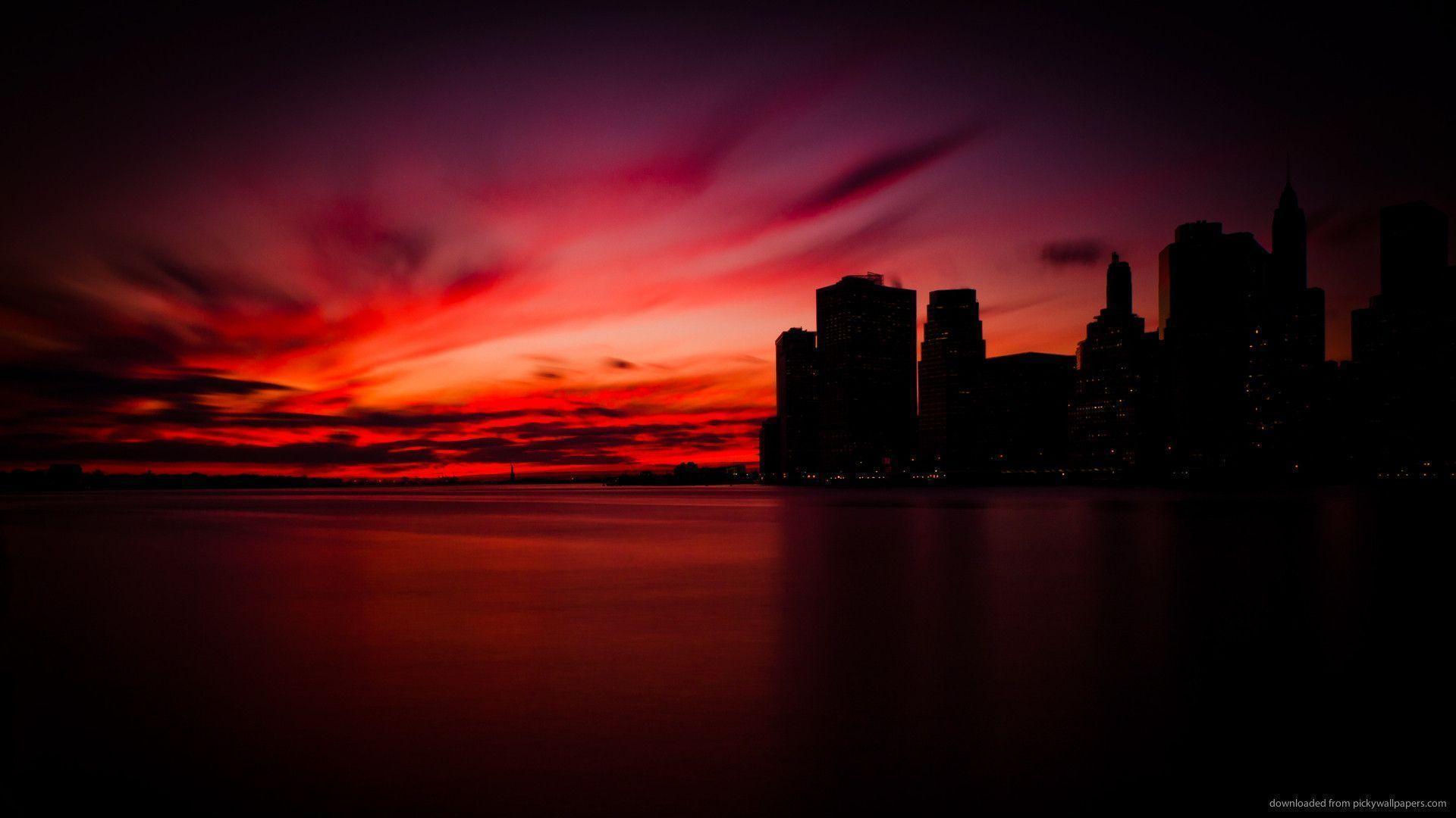 Wallpaper download nokia 5233 - Dark Manhattan Sunset Wallpaper For Nokia 5233