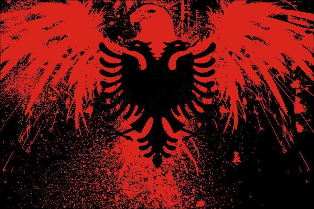 Albanische Flagge Wallpaper