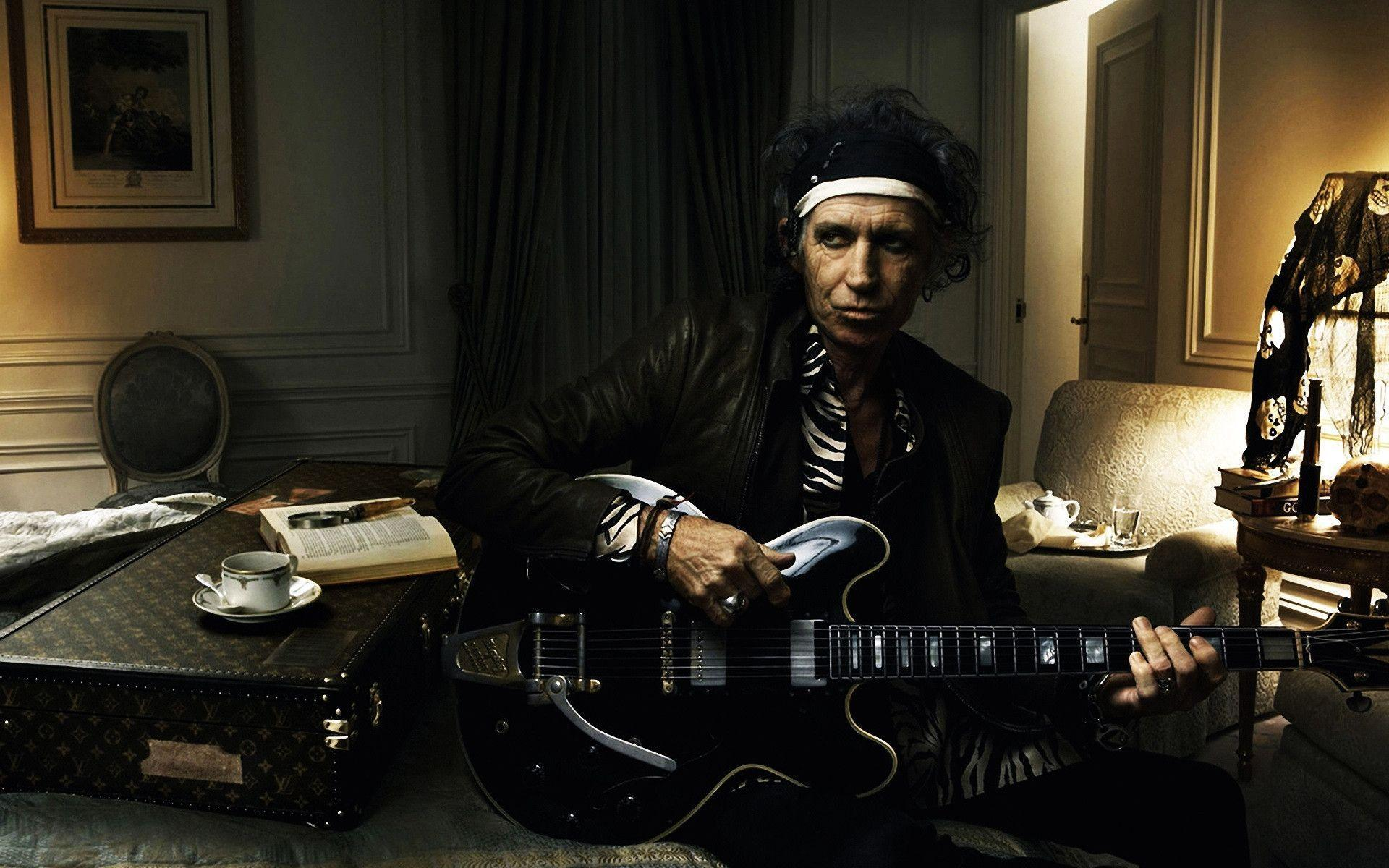 Keith Richards Guitarist Rolling Stones widescreen wallpapers