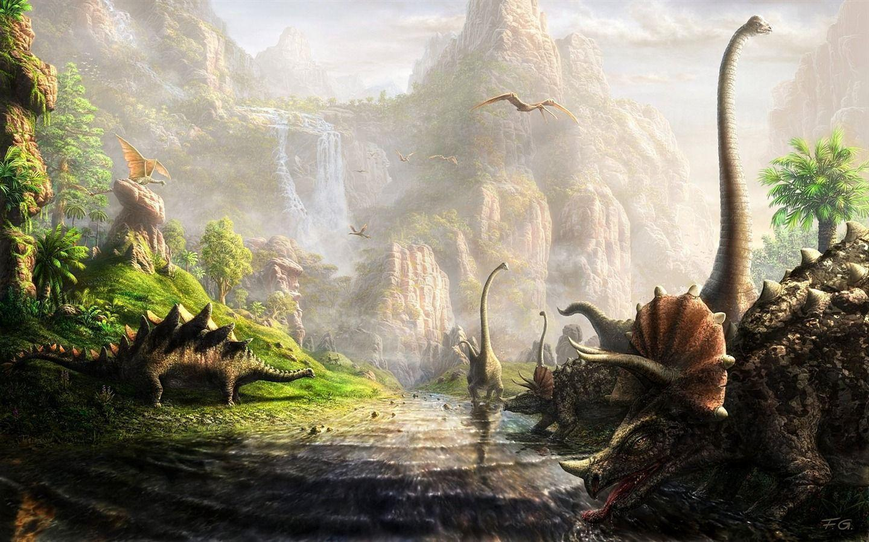 Dinosaurs Zoom Background 6