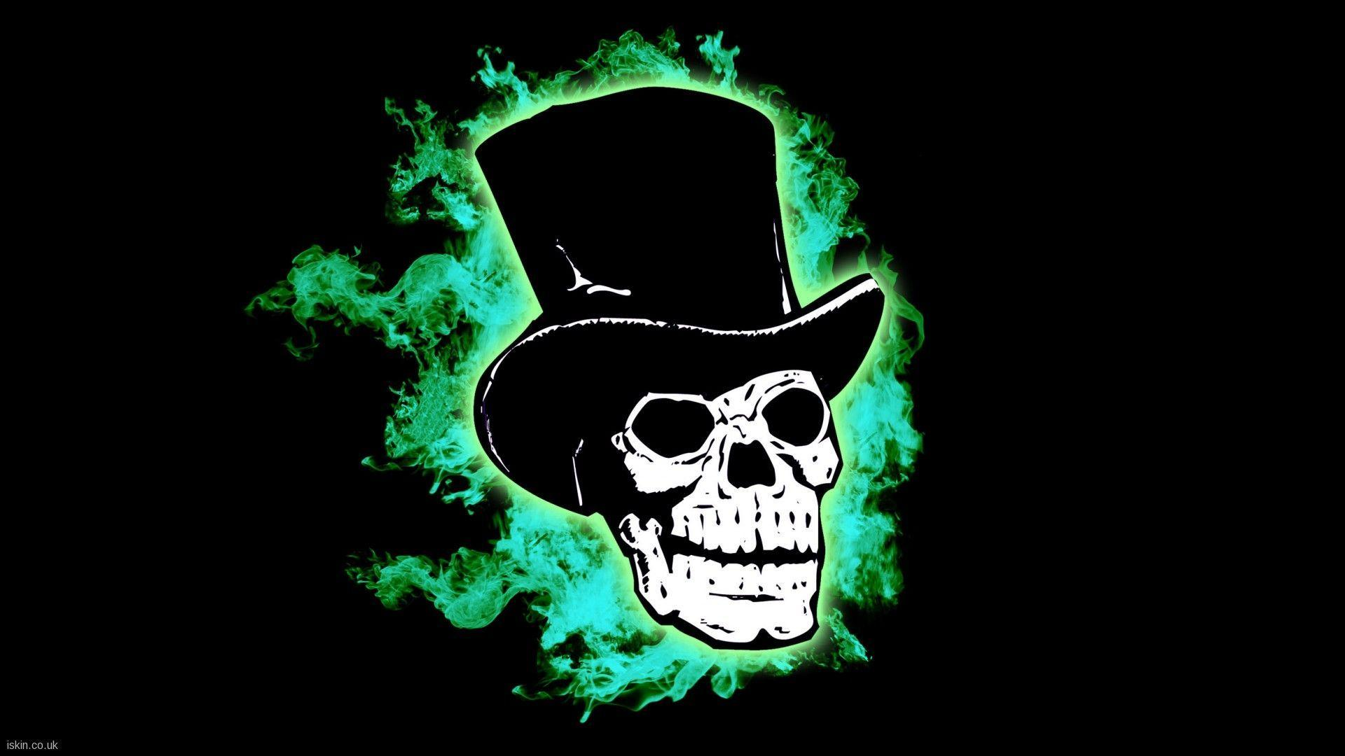 Blue Fire Skull Wallpaper HD