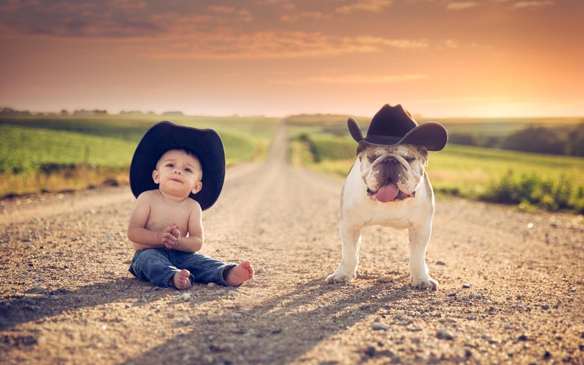 Cute boy hd wallpaper - Little Boy With Bull Dog Cute Funny Wallpapers