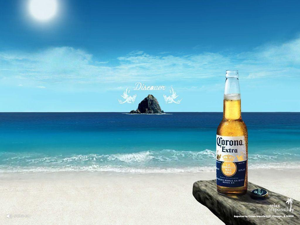 Corona Extra Alcohol Drink Beach Image HD Wall 2678 Wallpaper