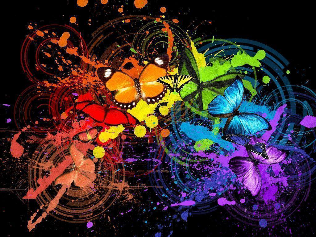 Download wallpaper: multicolored Butterflies, butterfly wallpaper ...