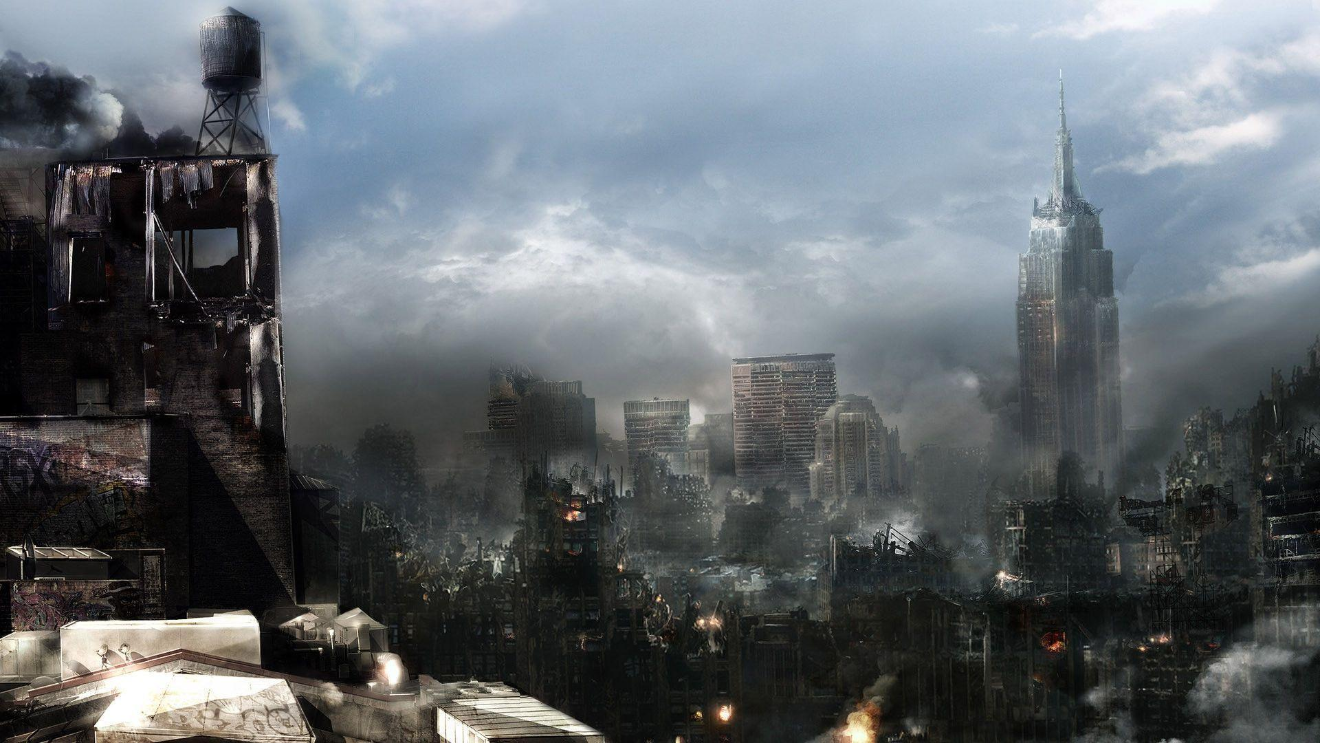 Image For > Destroyed City Backgrounds