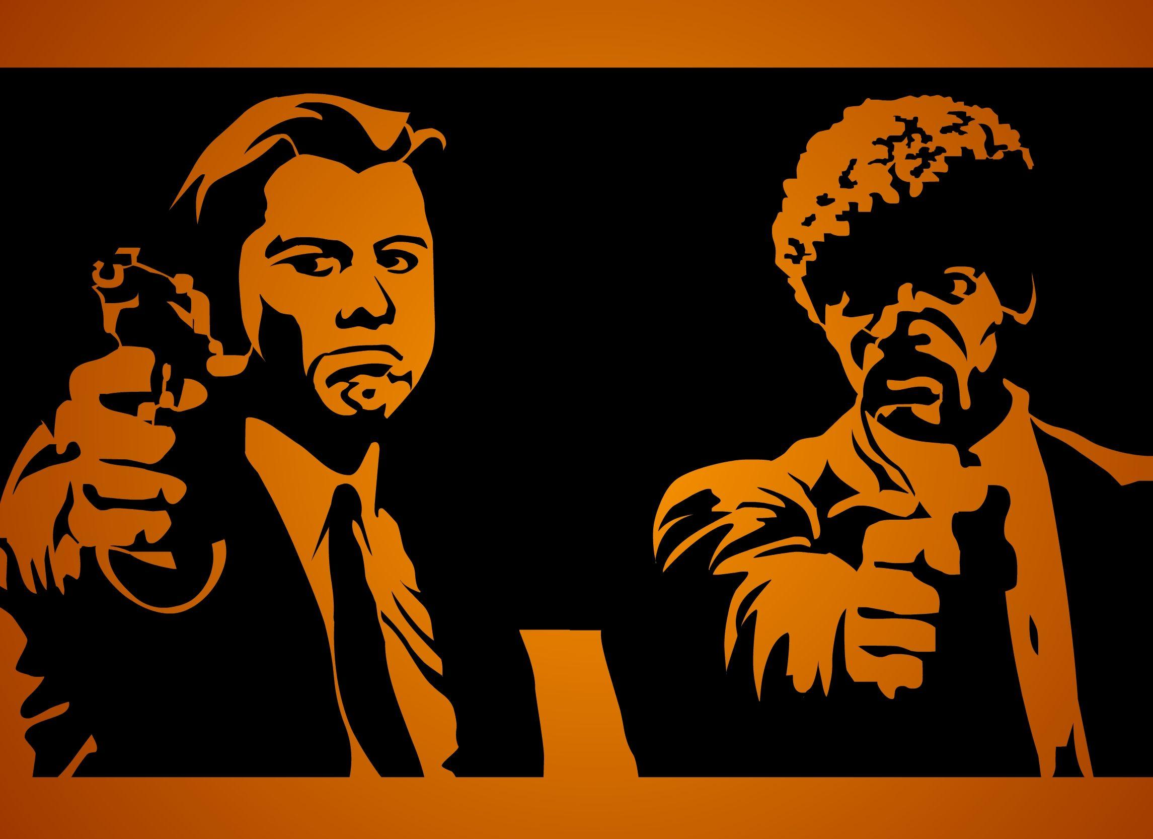 Pulp Fiction Samuel L Jackson John Travolta Hd Wallpaper