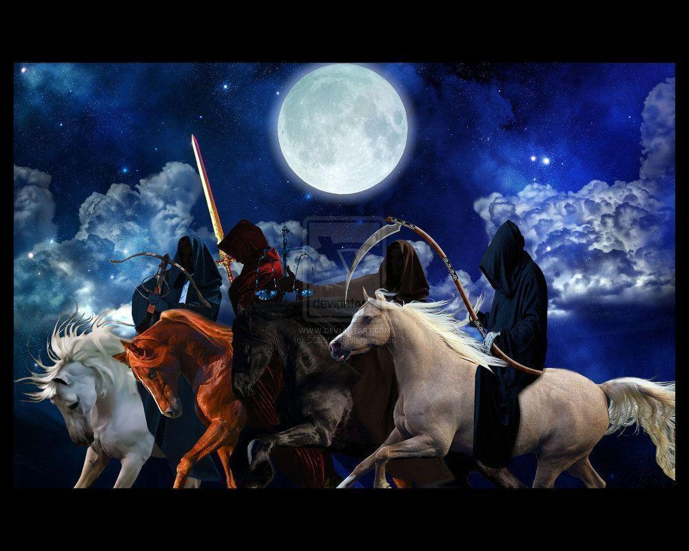 The Four Horsemen of the Apocalypse Print by SC2009