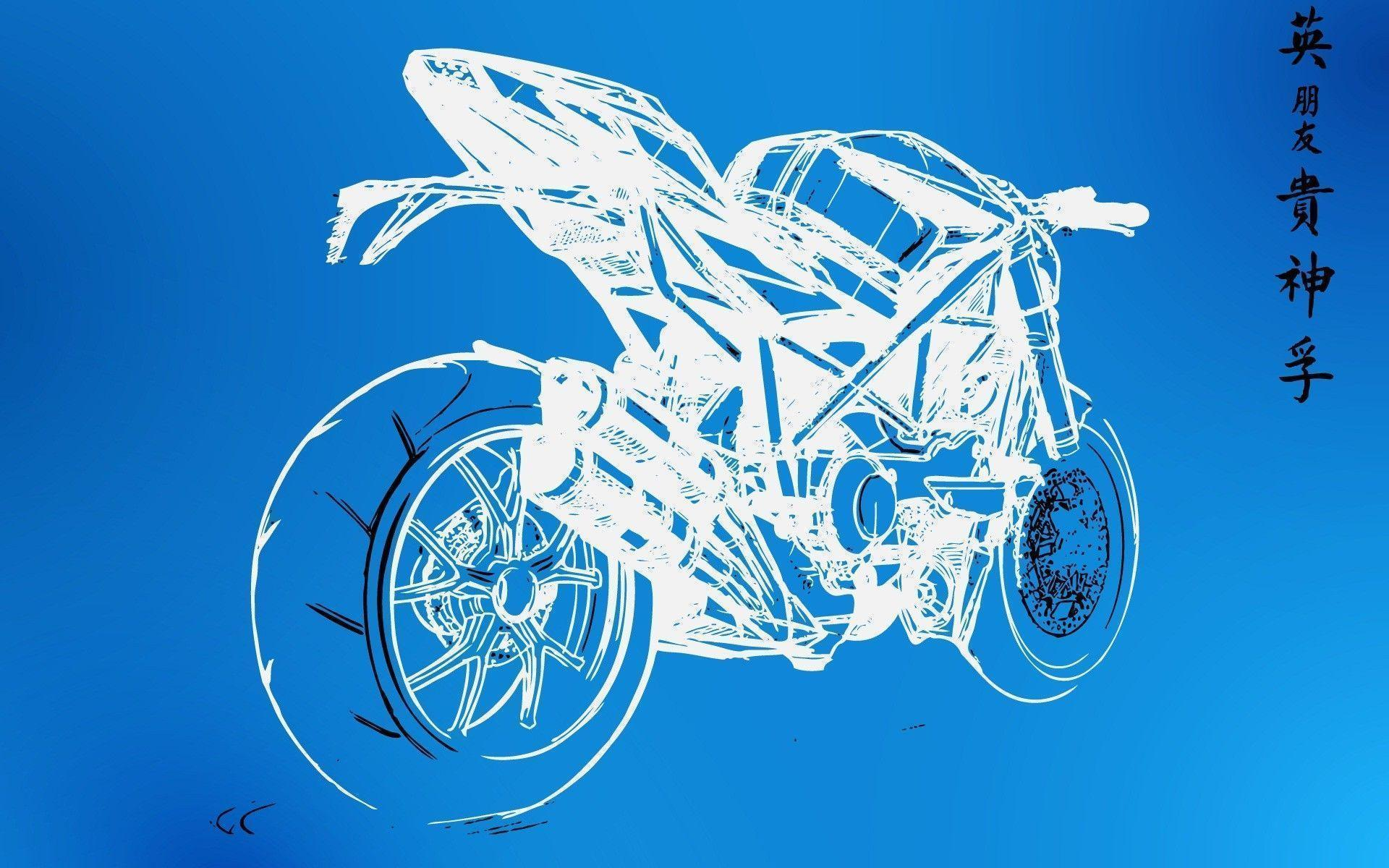 Blueprint wallpapers wallpaper cave wall sketches motorbikes graphic blueprint wallpaper 1920x1200 malvernweather Gallery