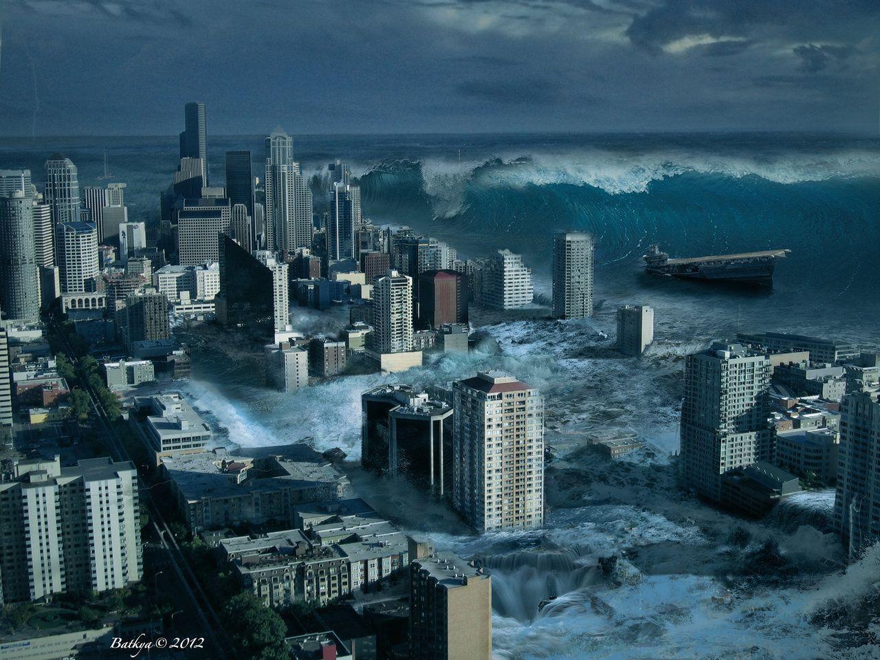 Images For > Tsunami Art Wallpaper