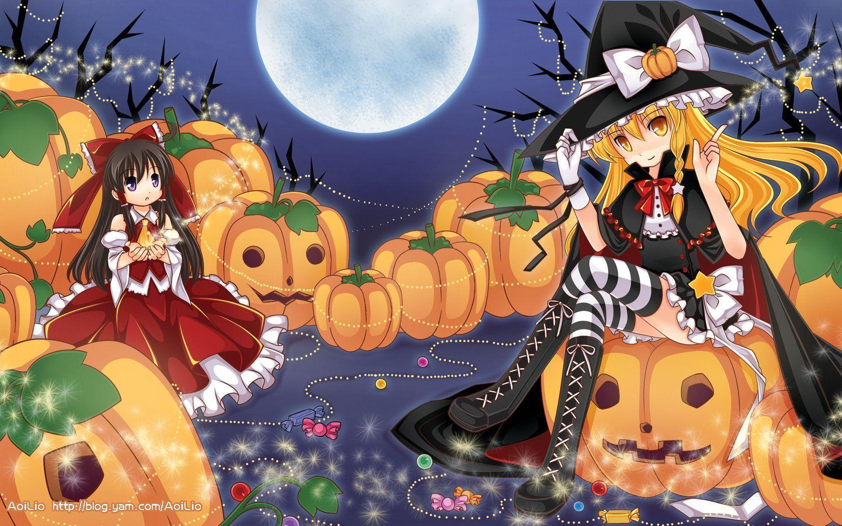 Halloween Anime Wallpapers - Wallpaper Cave