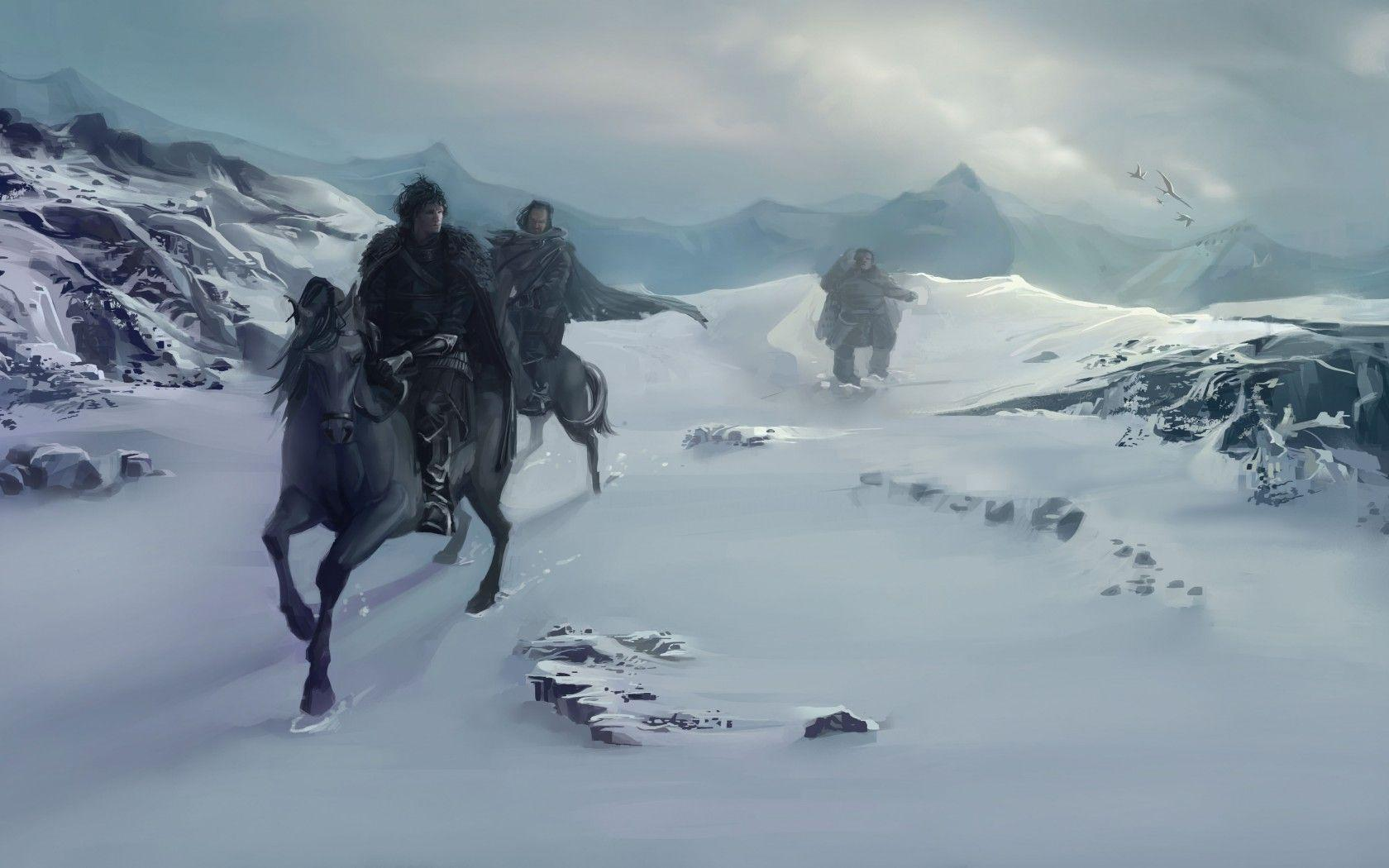 Download wallpapers Art, A Song of Ice and Fire, Winter, snow free