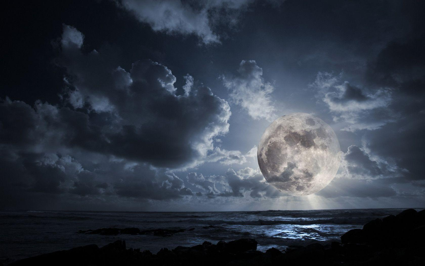 Wallpapers For > Full Moon Wallpapers