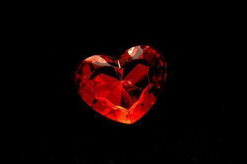 red heart on the black background | Flickr - Photo Sharing!