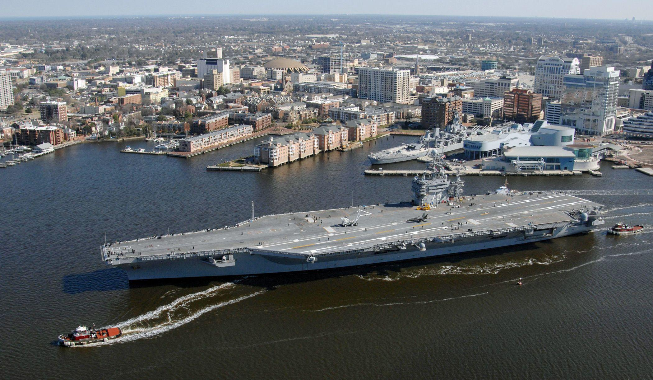 Uss Nimitz Size Comparison USS Nimitz Wall...