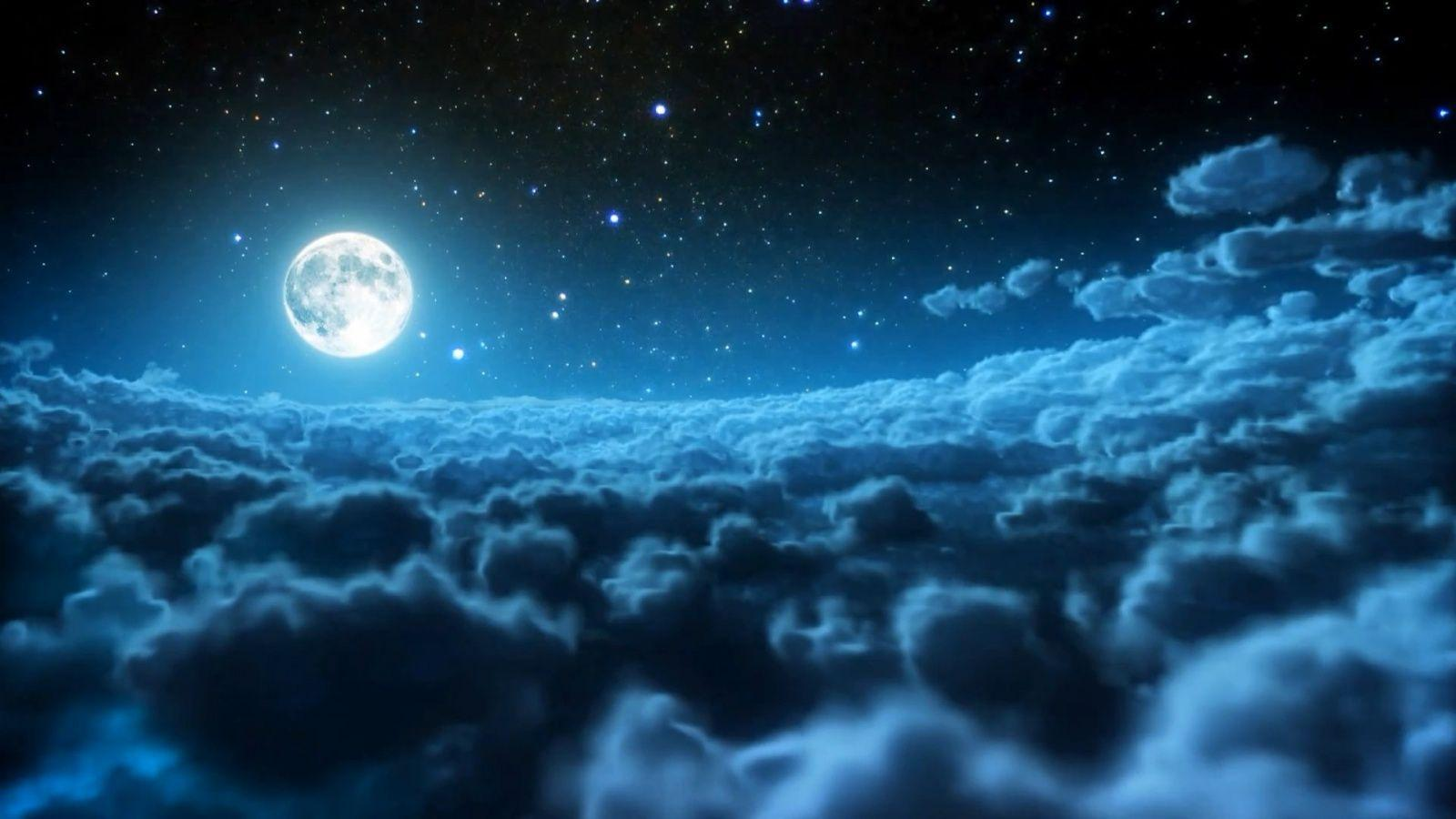 blue night sky background - photo #26