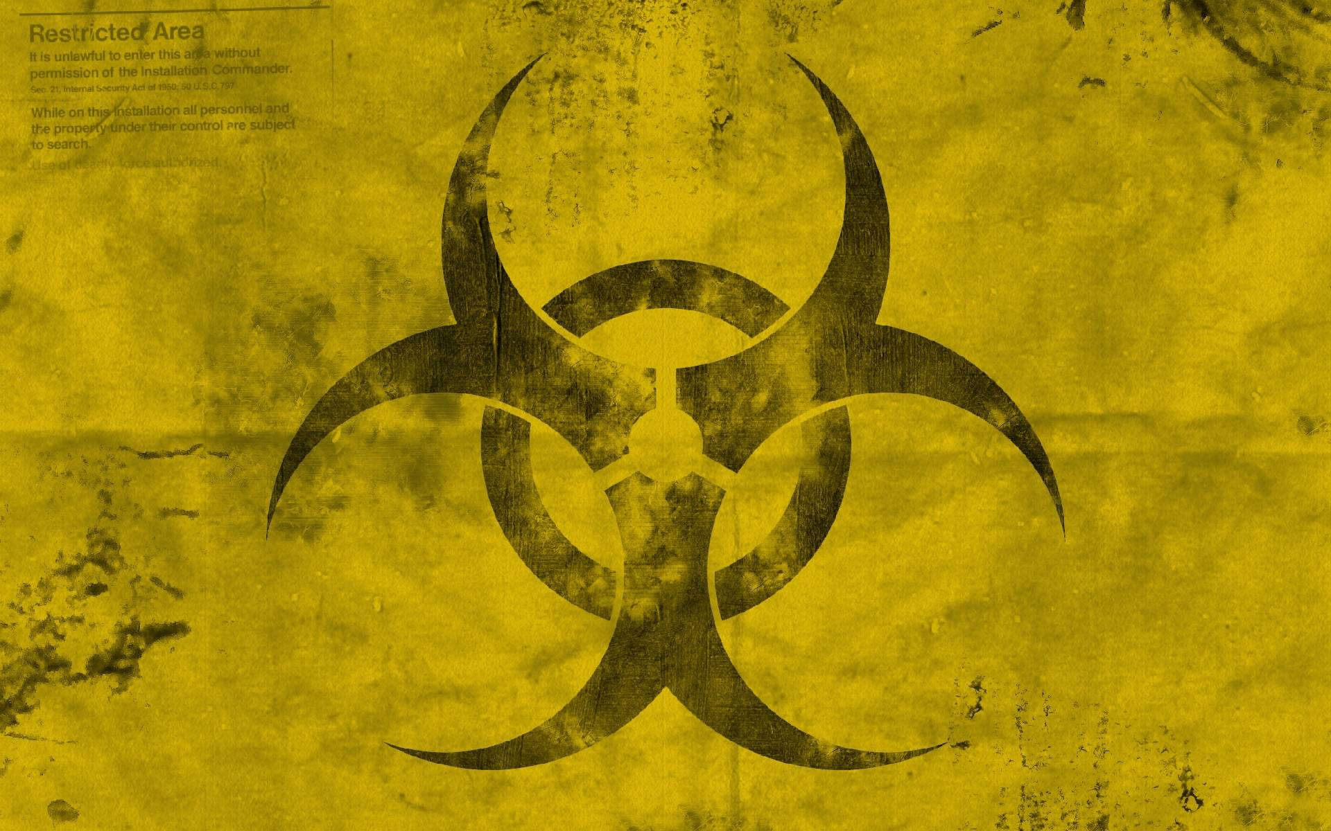 Radioactive Zombie Wallpaper Biohazard Symbo...