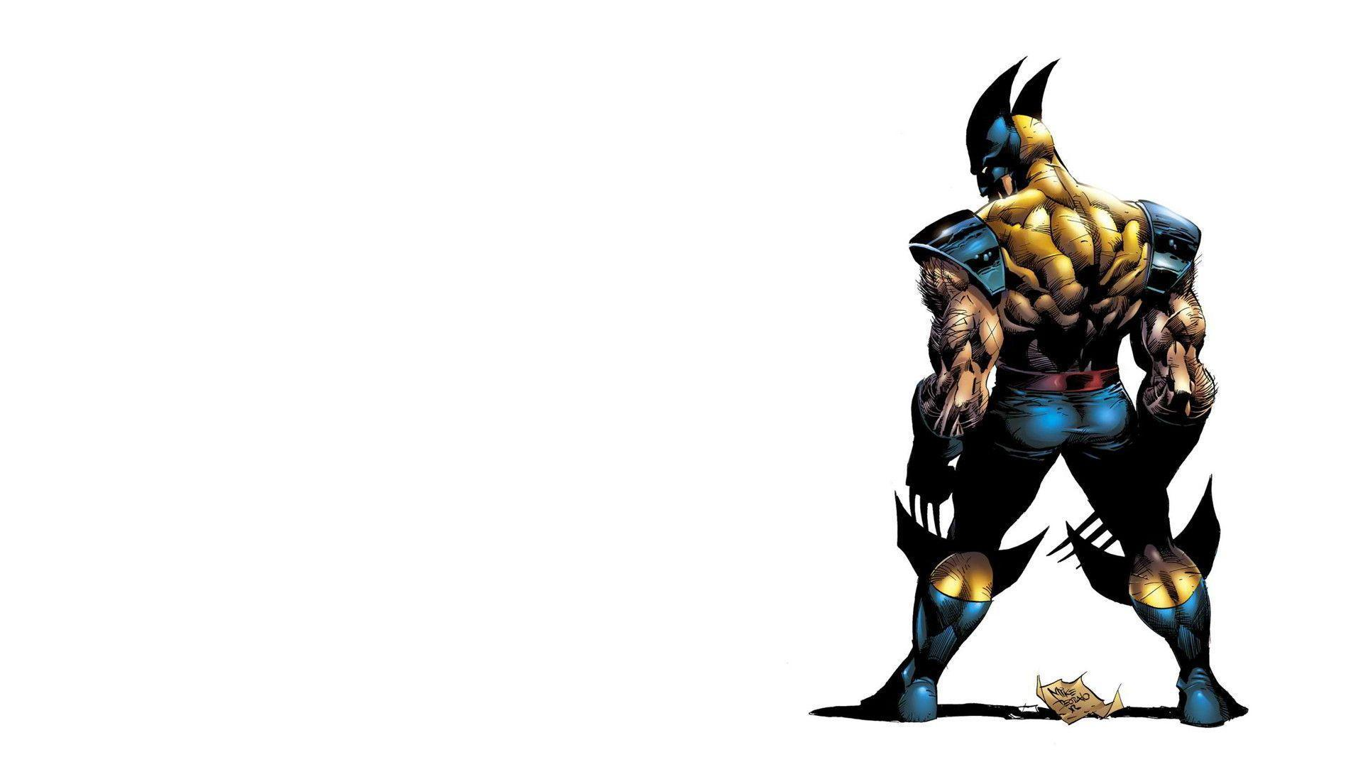 Behind Wolverine HD Wallpaper