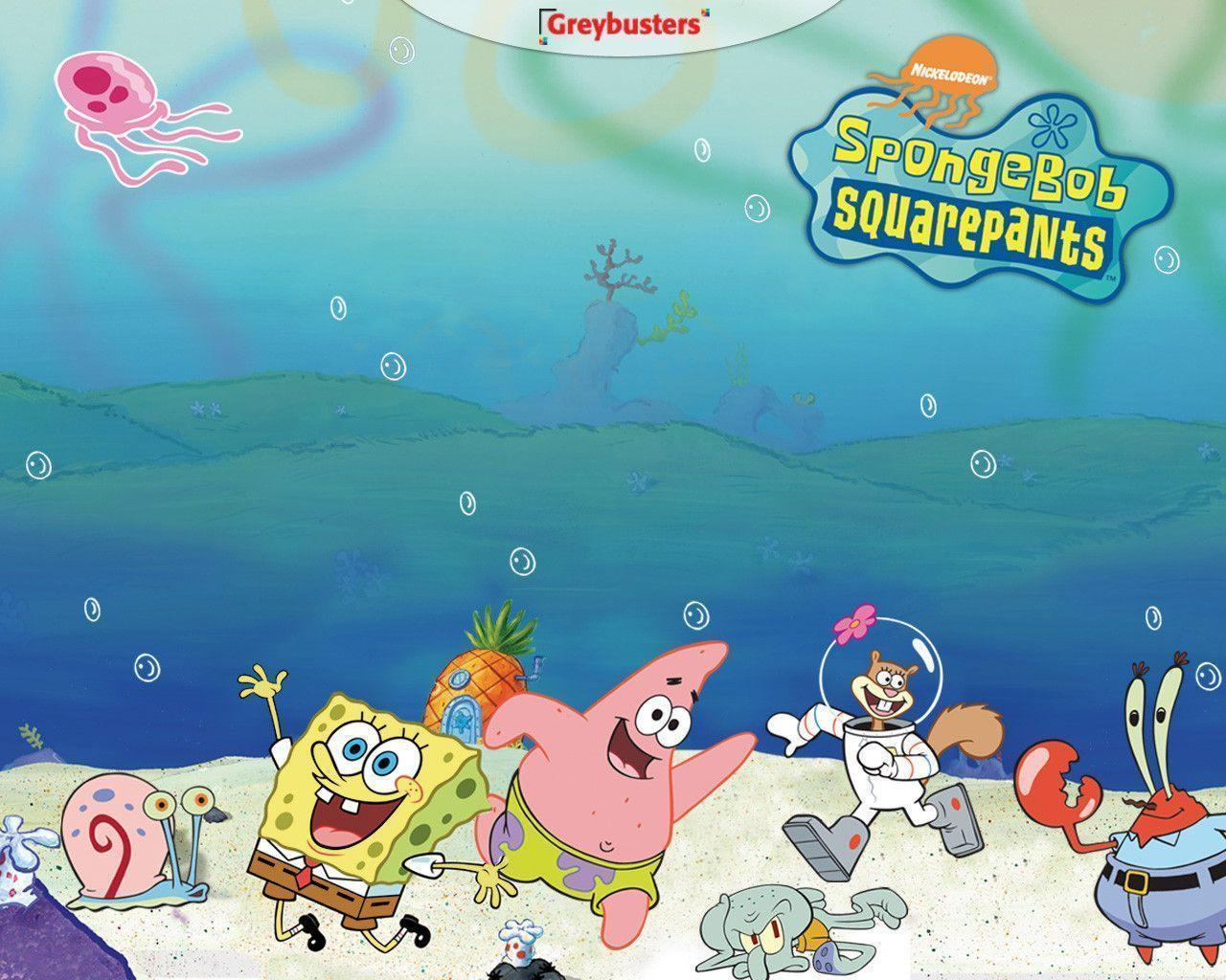 Spongebob Squarepants Characters Wallpaper | Wallpaper | Basic .