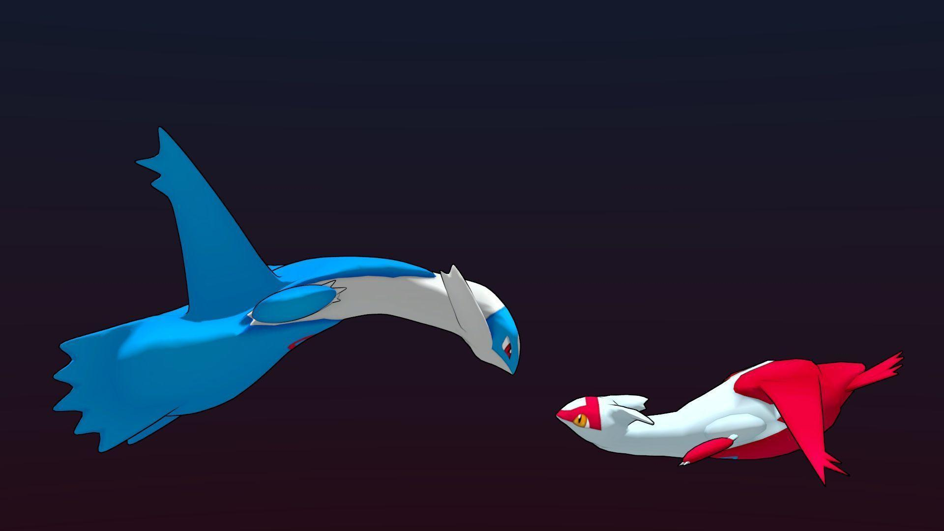 Wallpapers For > Latios And Latias Wallpapers