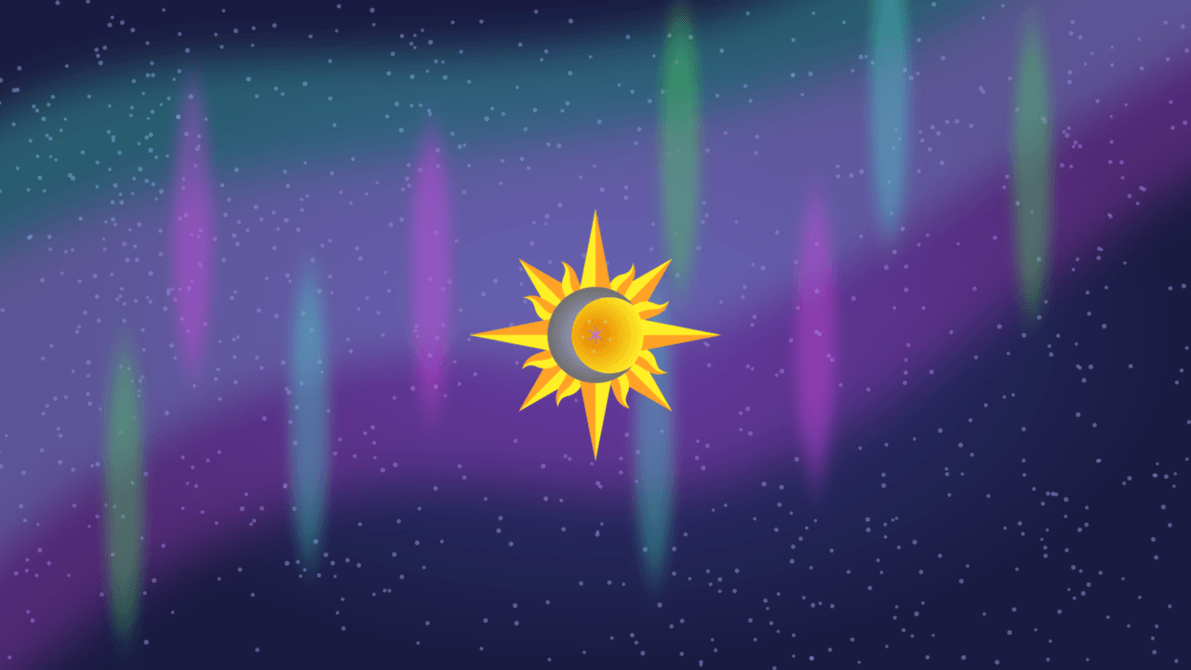 star background sun moon - photo #6