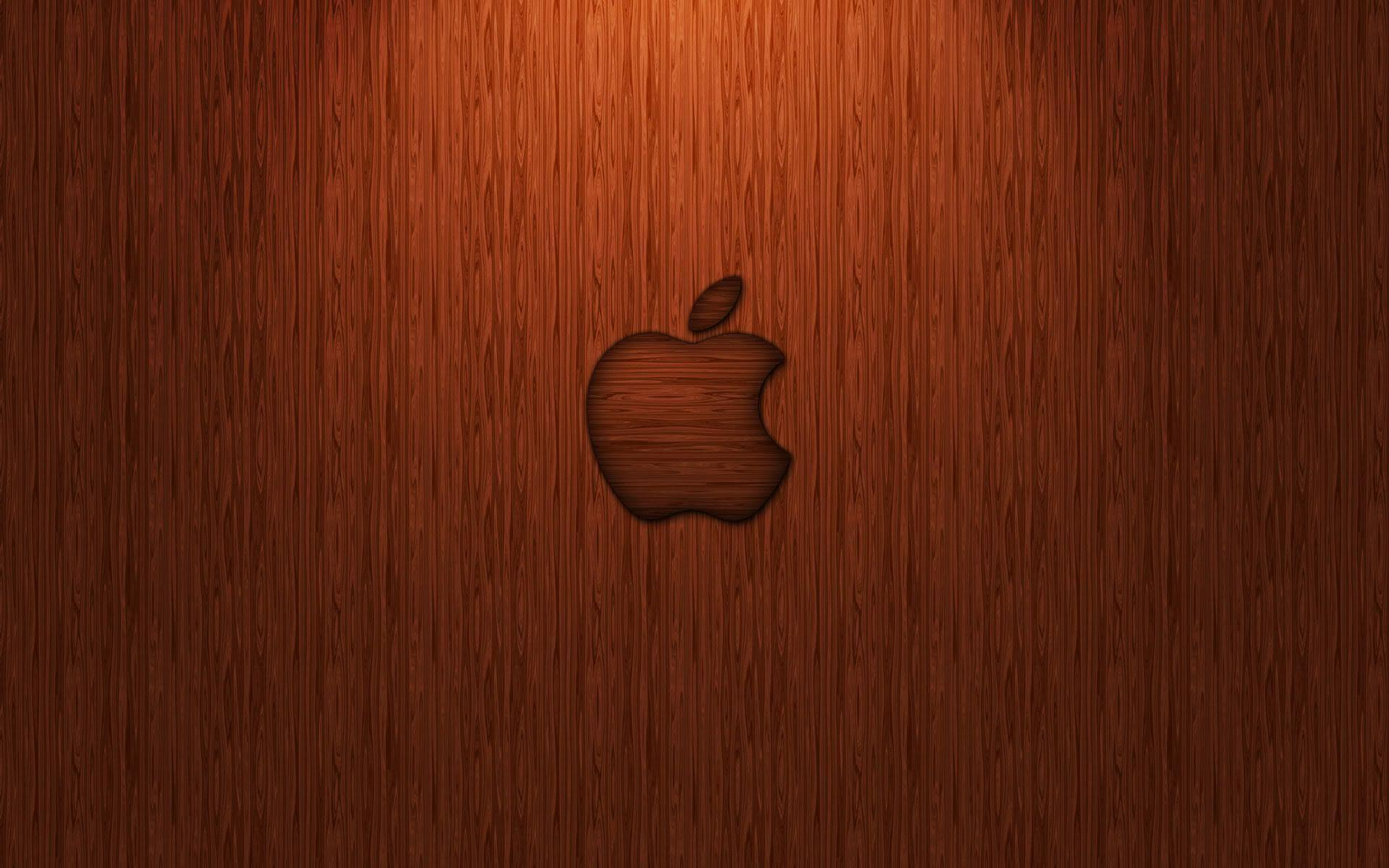 Orange Apple logo Wallpapers