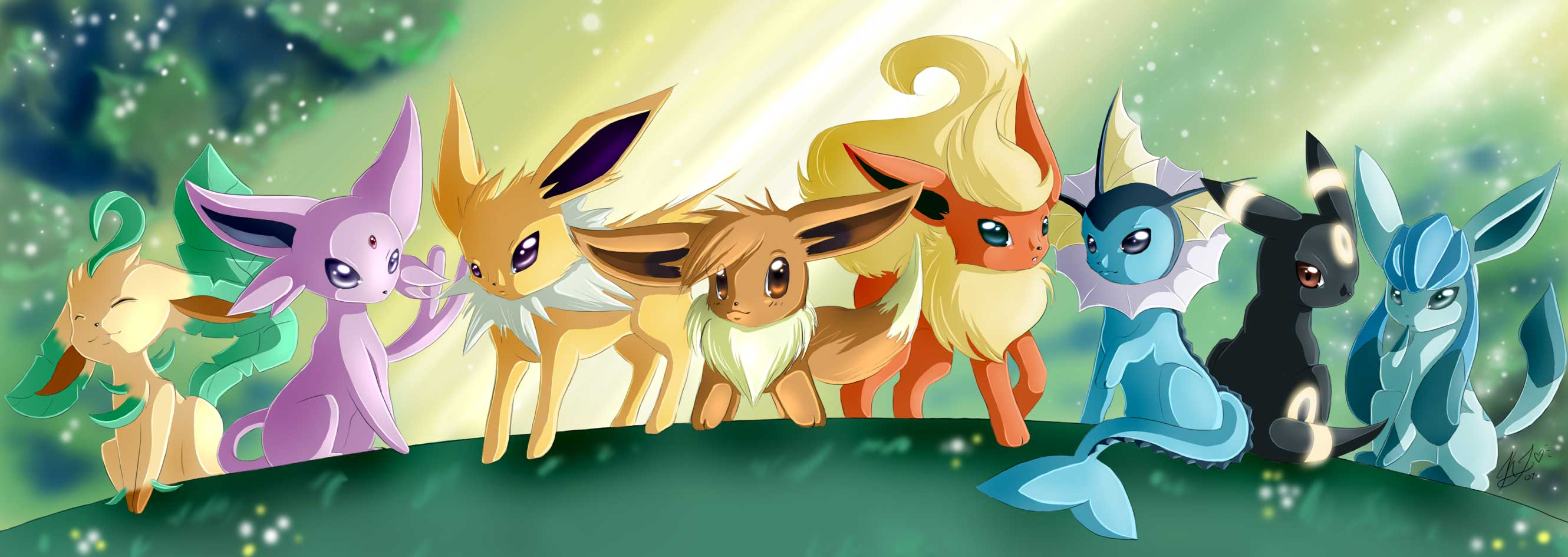 Wallpapers For > Cute Eevee Evolutions Wallpapers