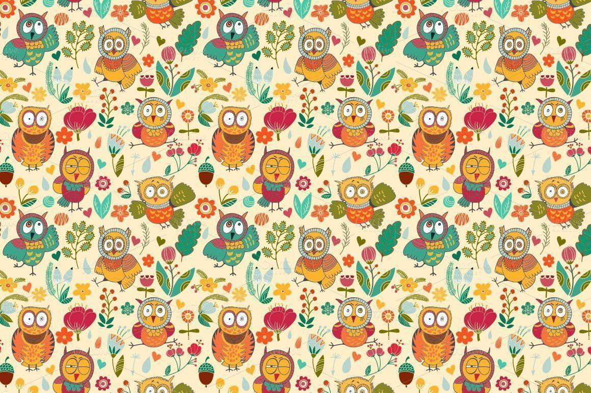 Wallpapers For > Cute Pink Owl Wallpapers