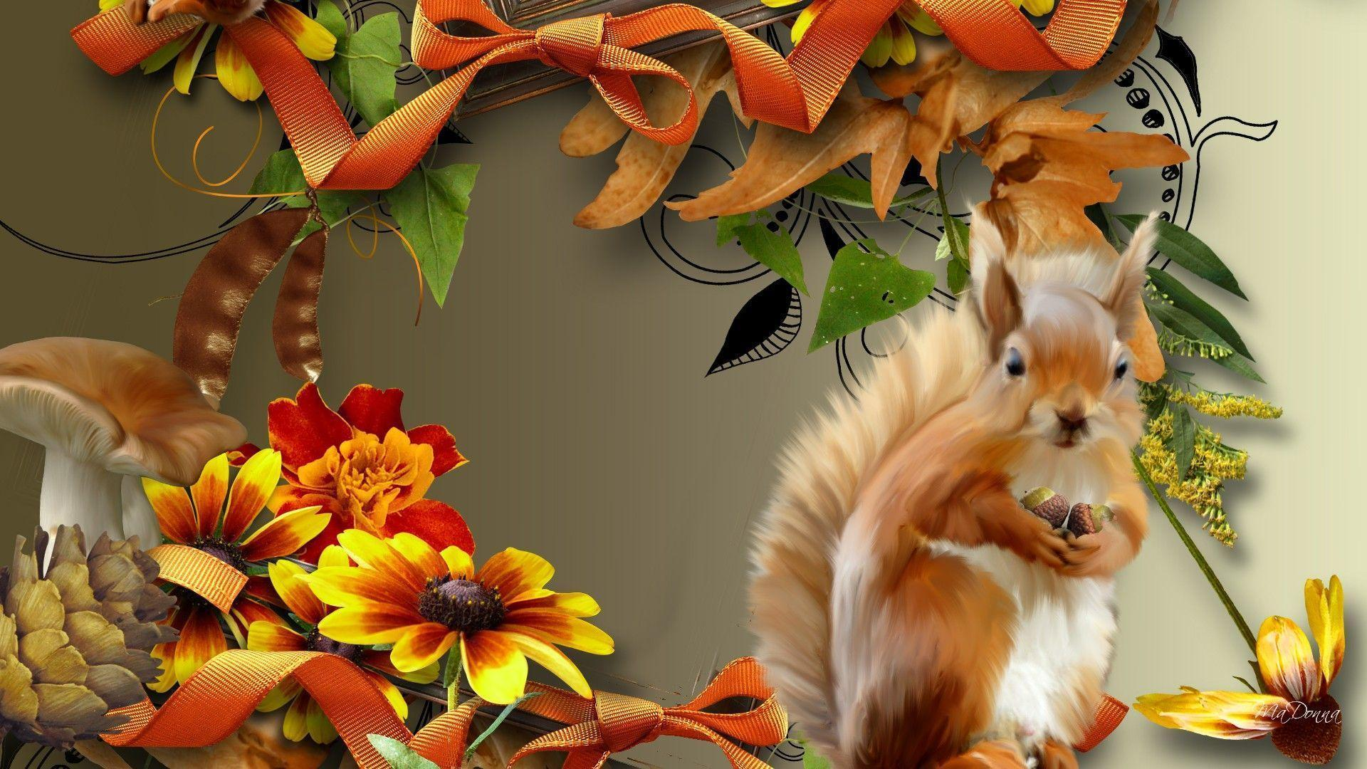 HD Autumn Squirrel Wallpaper | Download Free - 106413