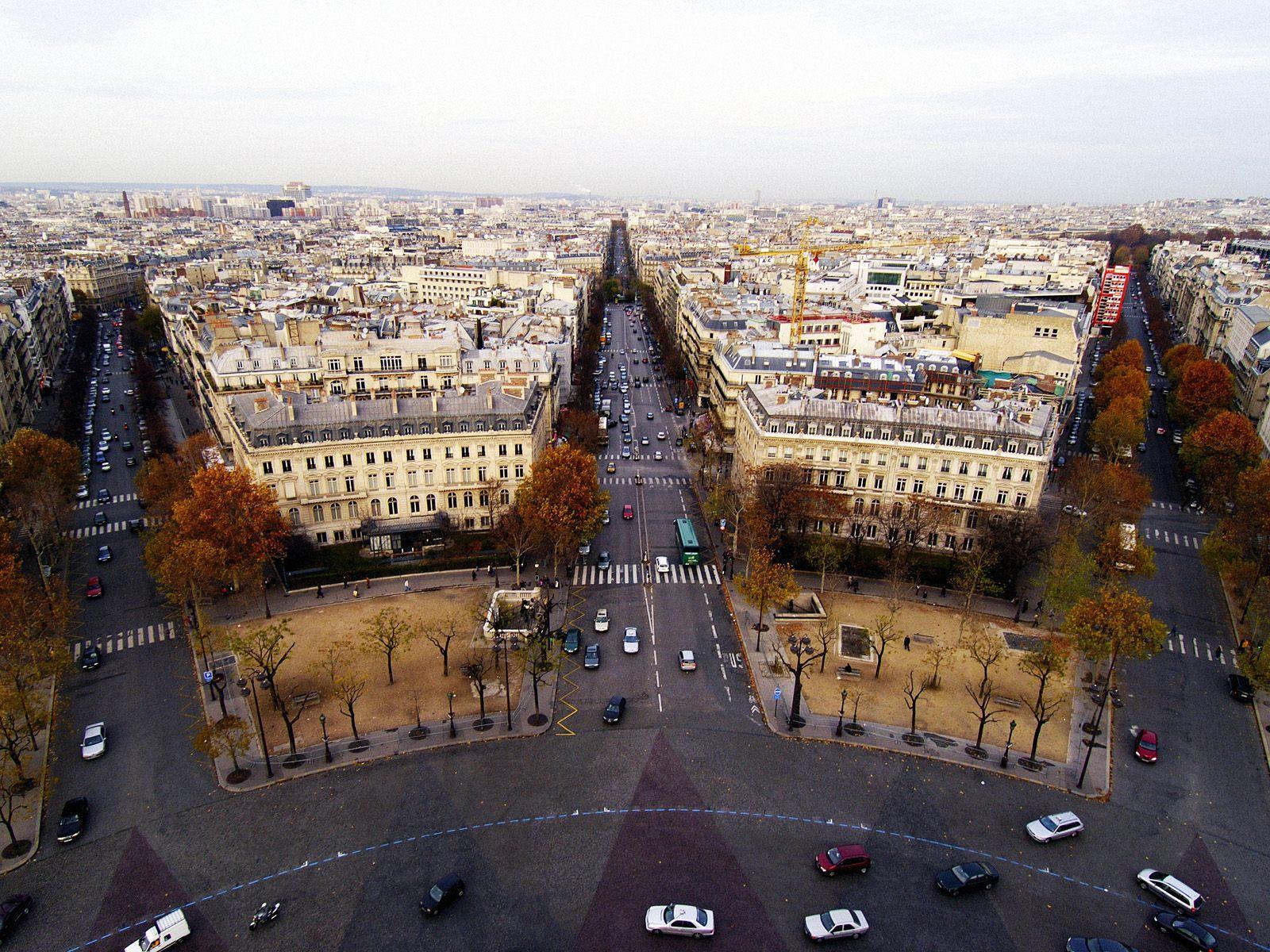 Place de Etoile Paris France free desktop background - free ...