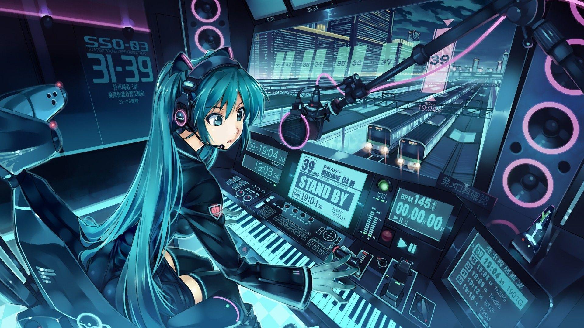 Anime Music Miku Cabin Backgroundfox