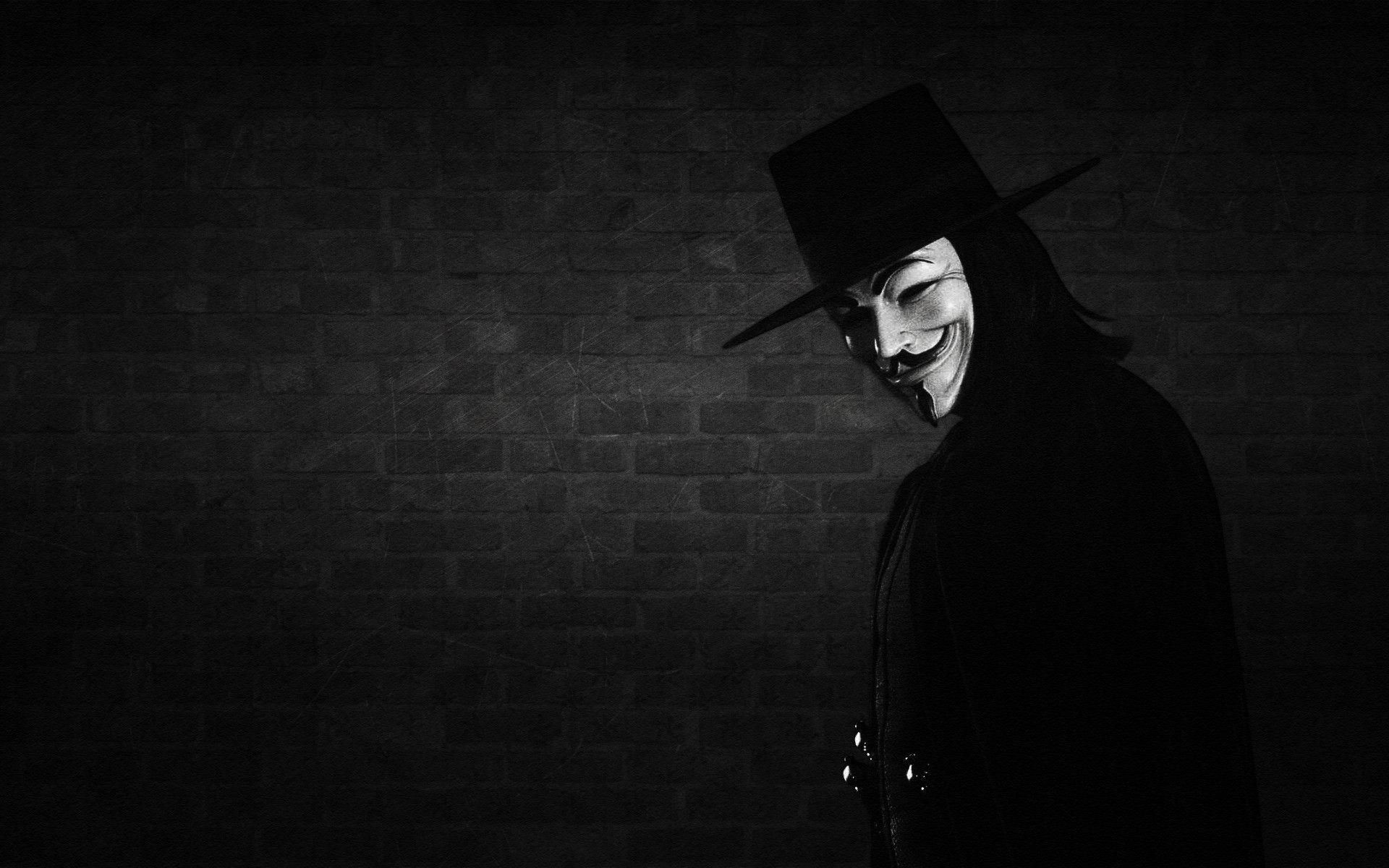 hat, wall, mask, V for vendetta wallpapers and images - wallpapers ...