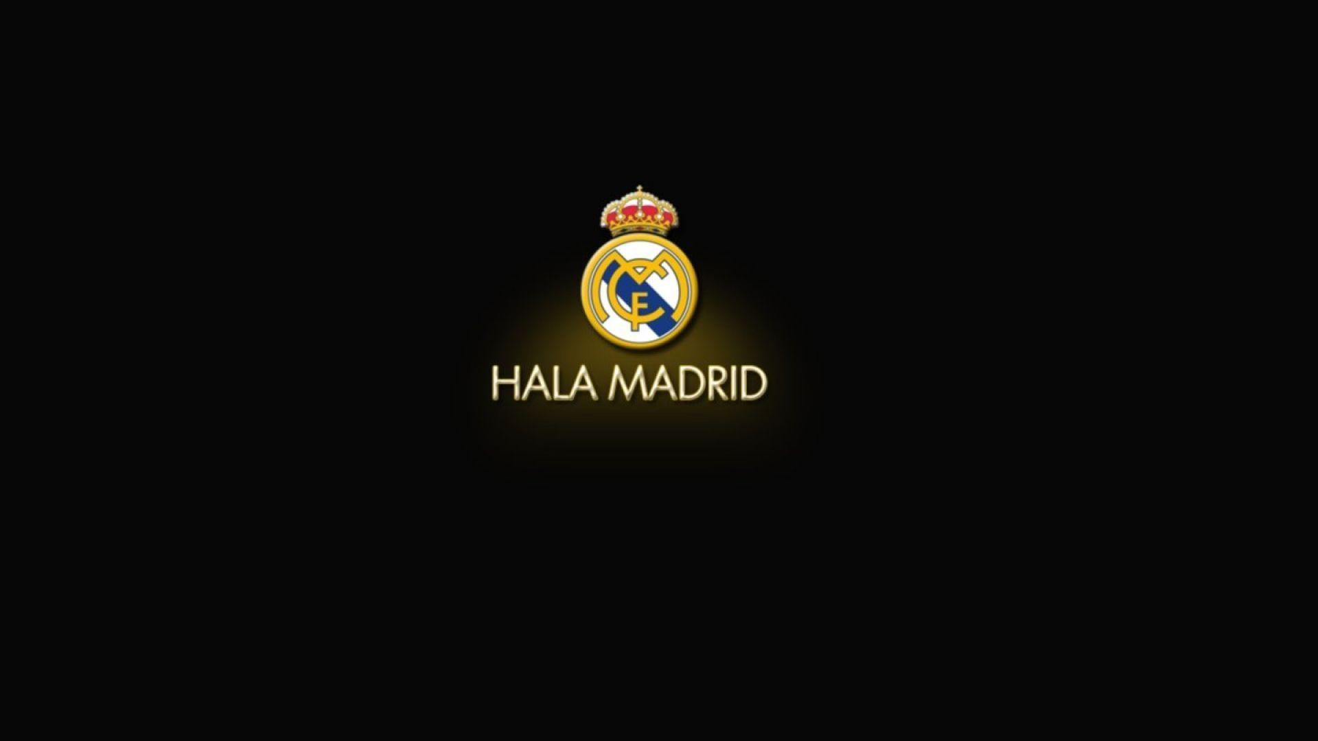 Real Logo Madrid Black Wallpapers #12618 Wallpaper | Cool ...