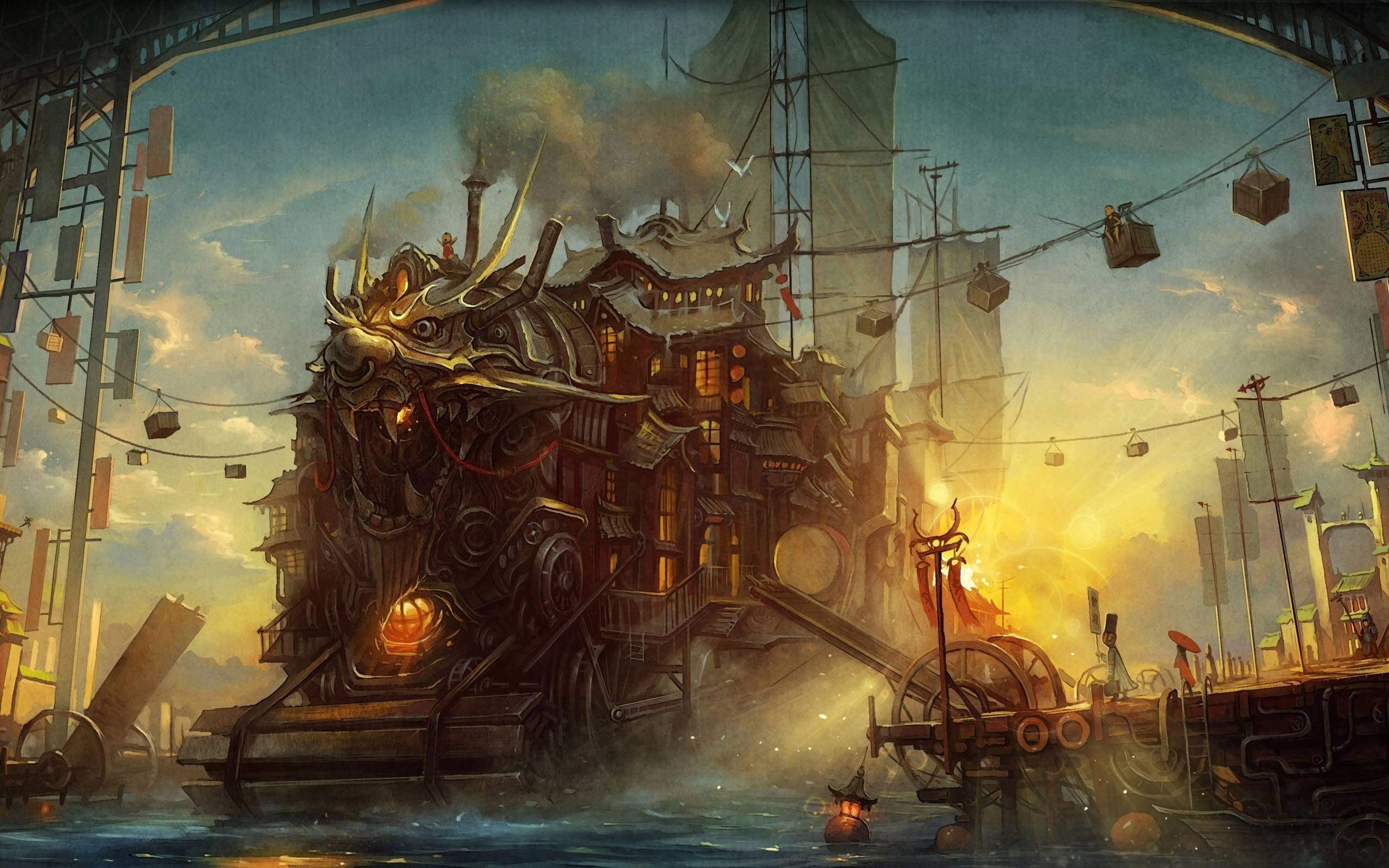 steampunk landscape by nessdu - photo #18