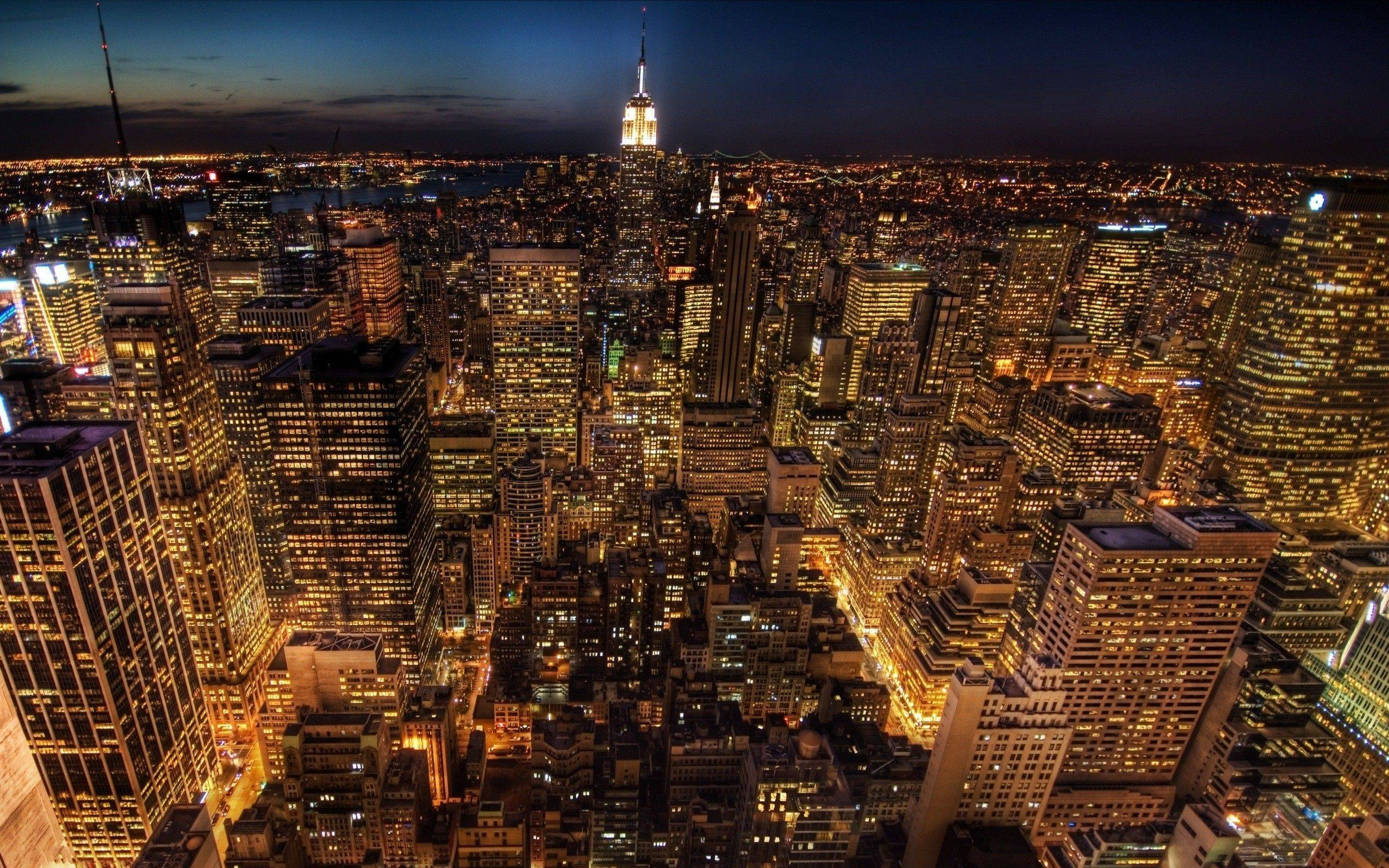 nyc at night wallpapers - wallpaper cave