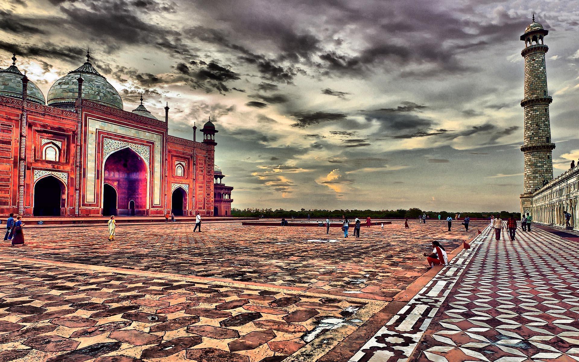 Taj Mahal Mosque in Agra India Top travel lists Wallpaper ...