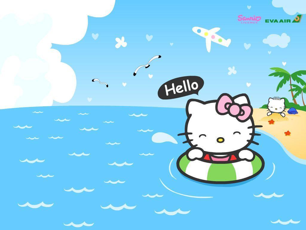 Hello Wallpaper Friend Design Ideas Kitty Holiday