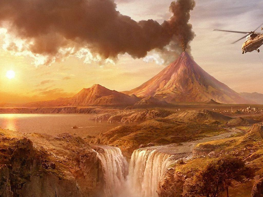 volcano eruption wallpaper hd - photo #26