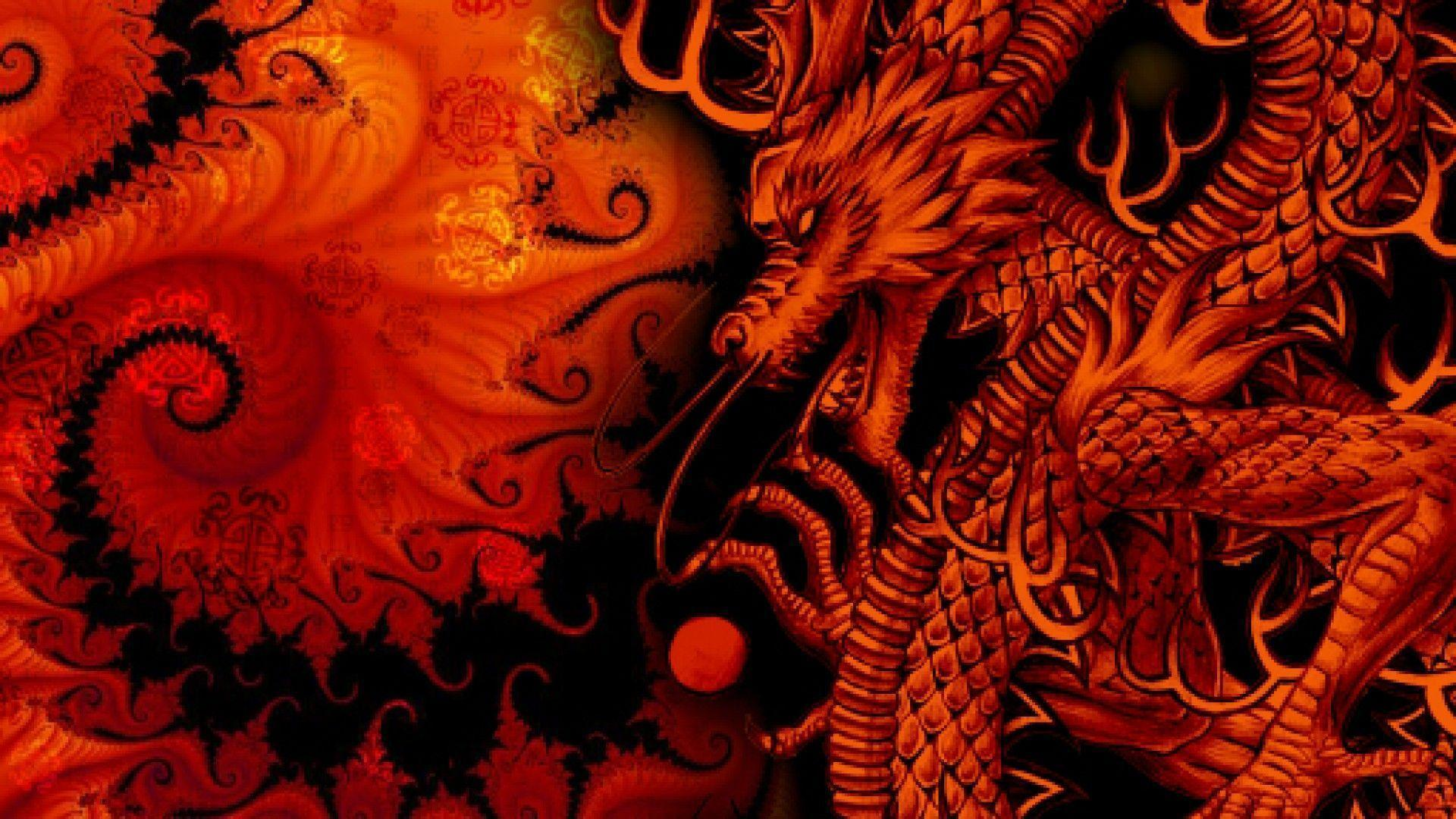orange glow dragons wallpaper - photo #6