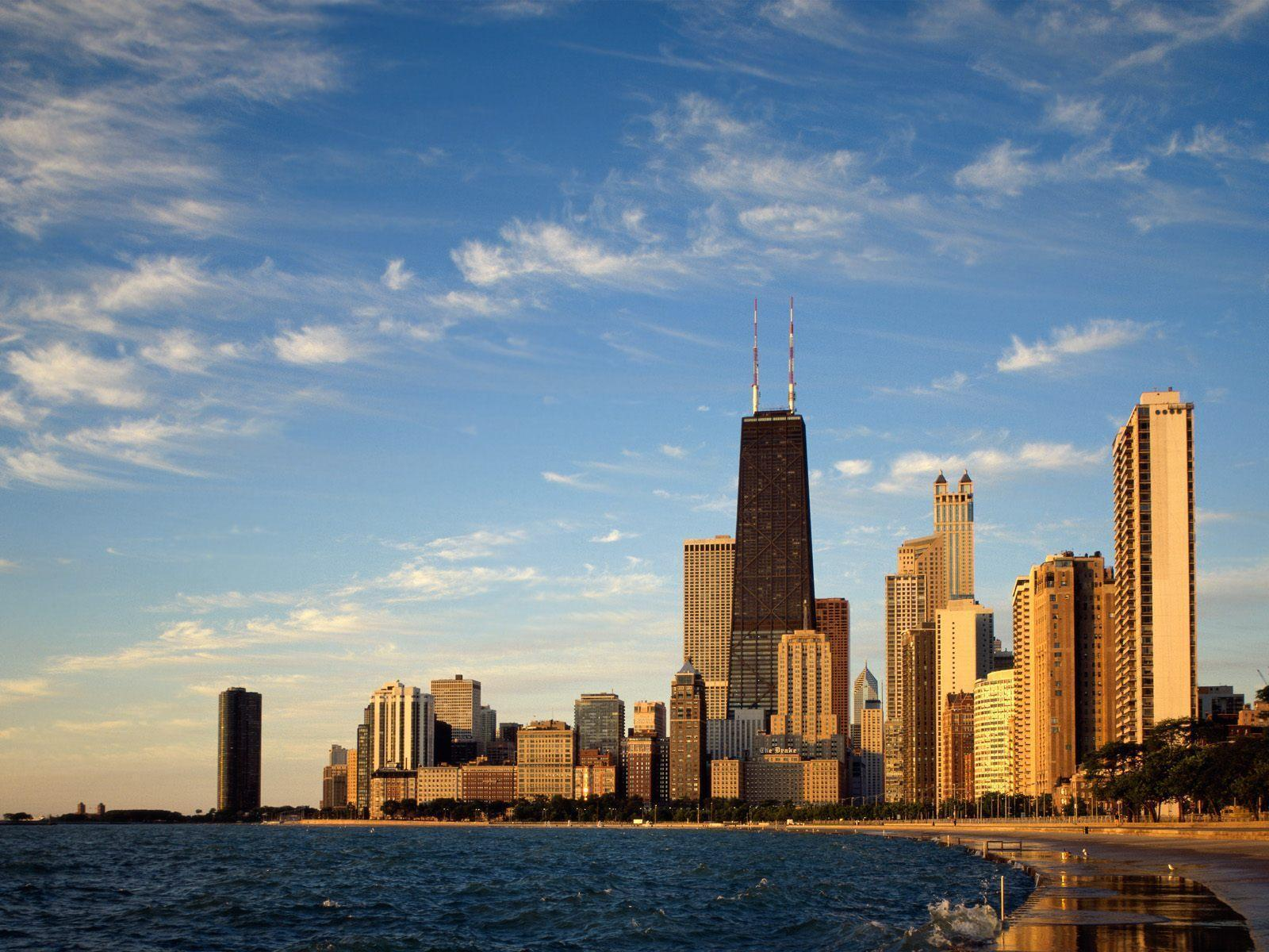 chicago skyline illinois free desktop background free wallpaper