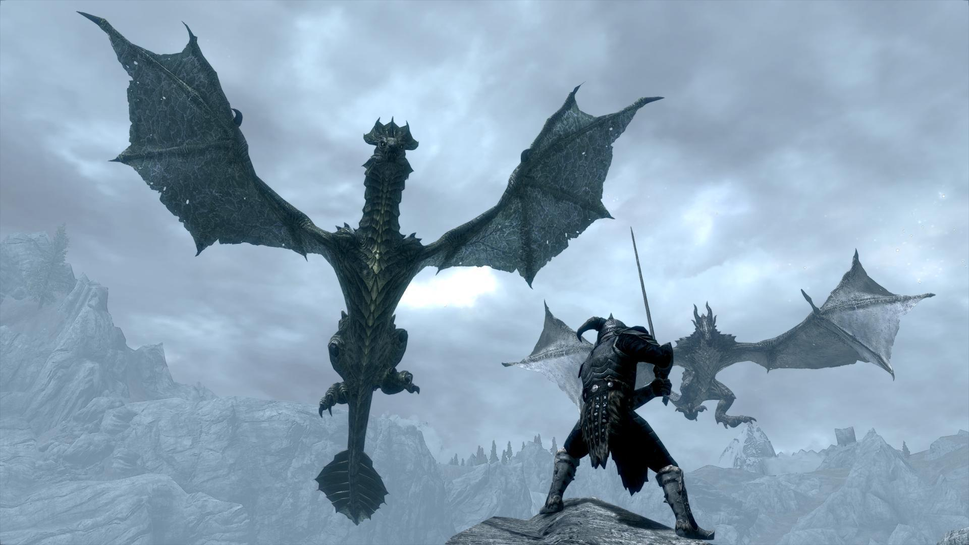 Skyrim Dragon: Skyrim Wallpapers 1080p