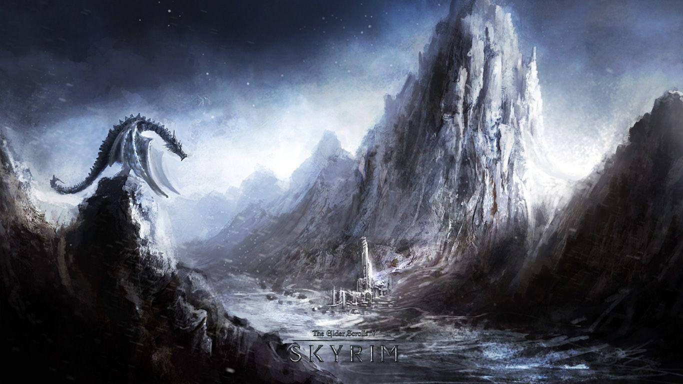 skyrim hd wallpapers 1366x768 - photo #2