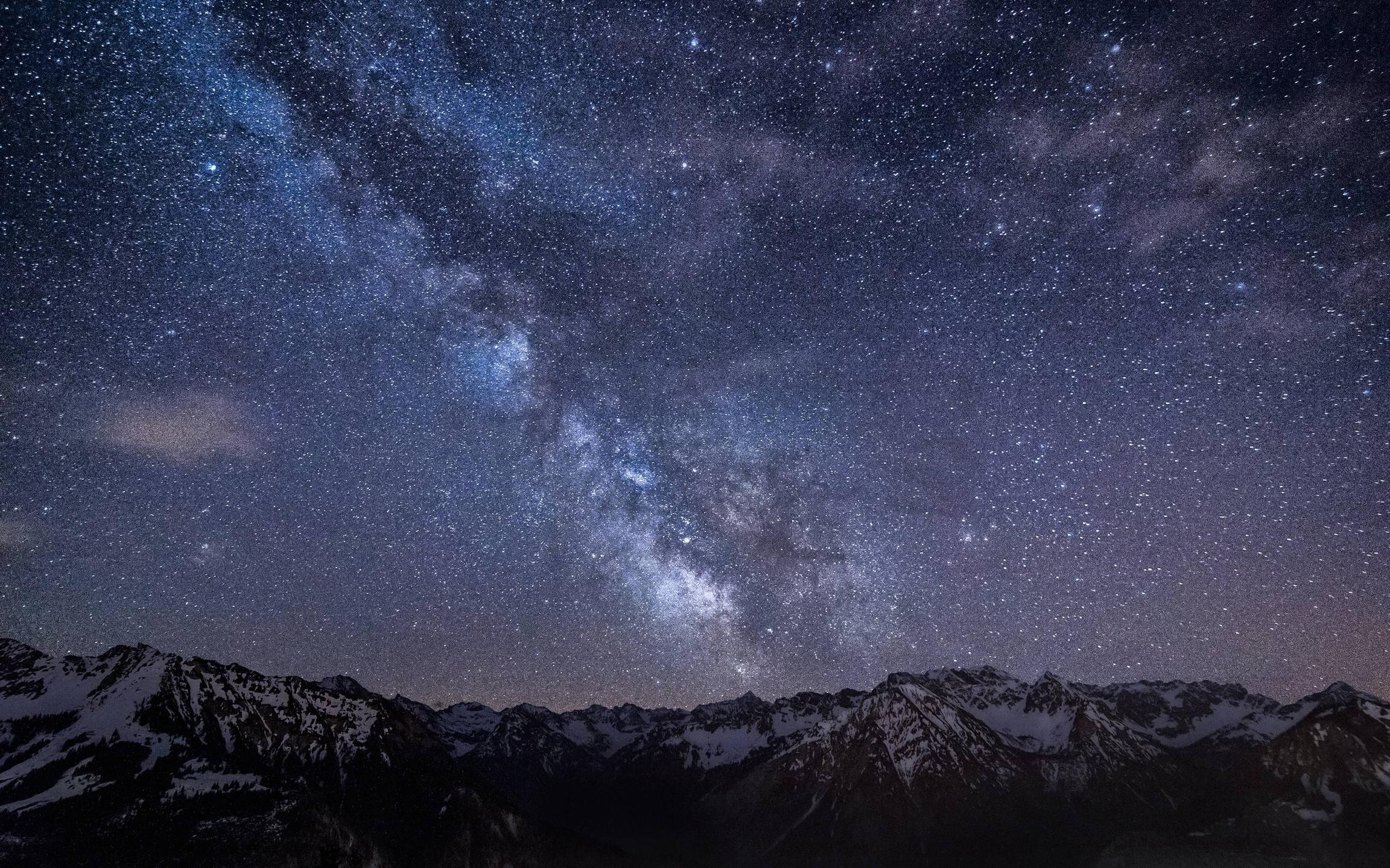 Wallpaper night sky stars night Milky Way mountains land